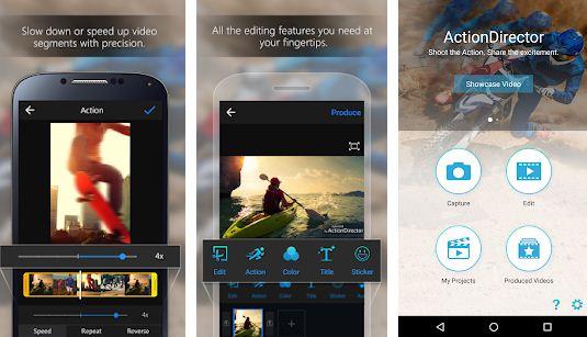 احترف التعديل علي الفيديو واضافة التاثيرات مع تطبيق ActionDirector
