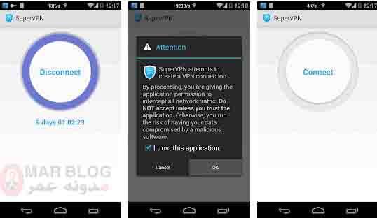 تطبيقات VPN مهكرة للاندرويد